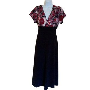 Black & Red Empire Wast Dress Size XL